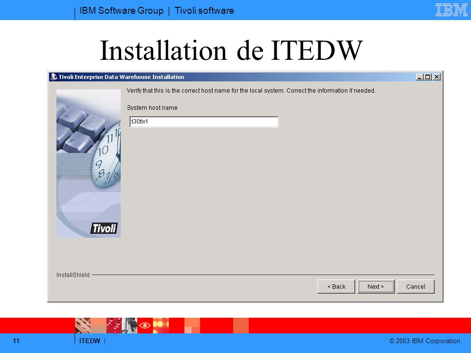Installation de ITEDW