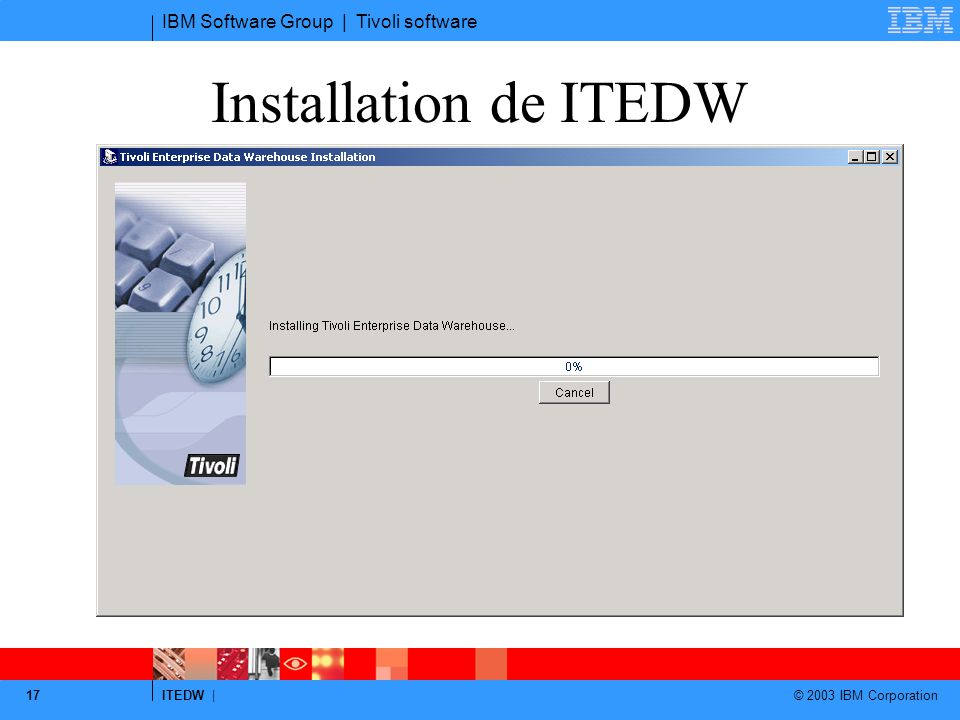Installation de ITEDW Log dans c:\twh\TWH.log