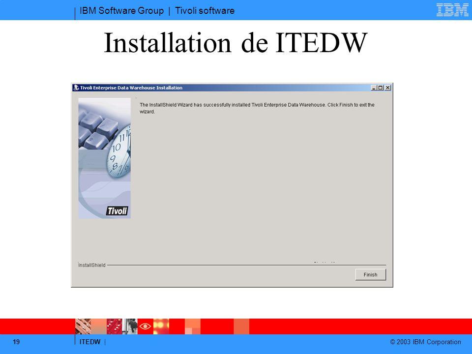 Installation de ITEDW reboot