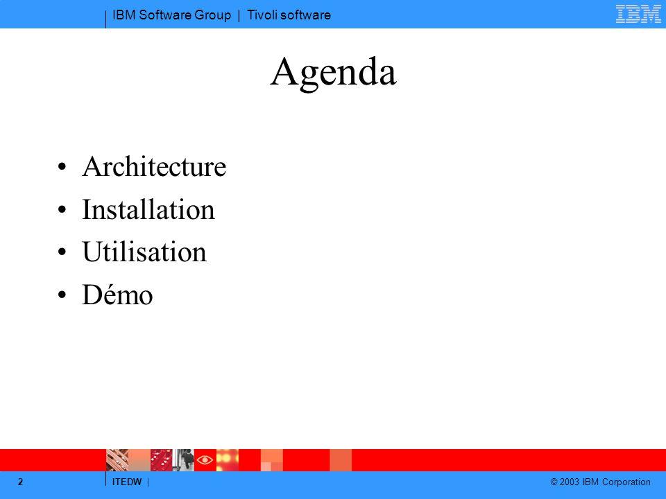 Agenda Architecture Installation Utilisation Démo