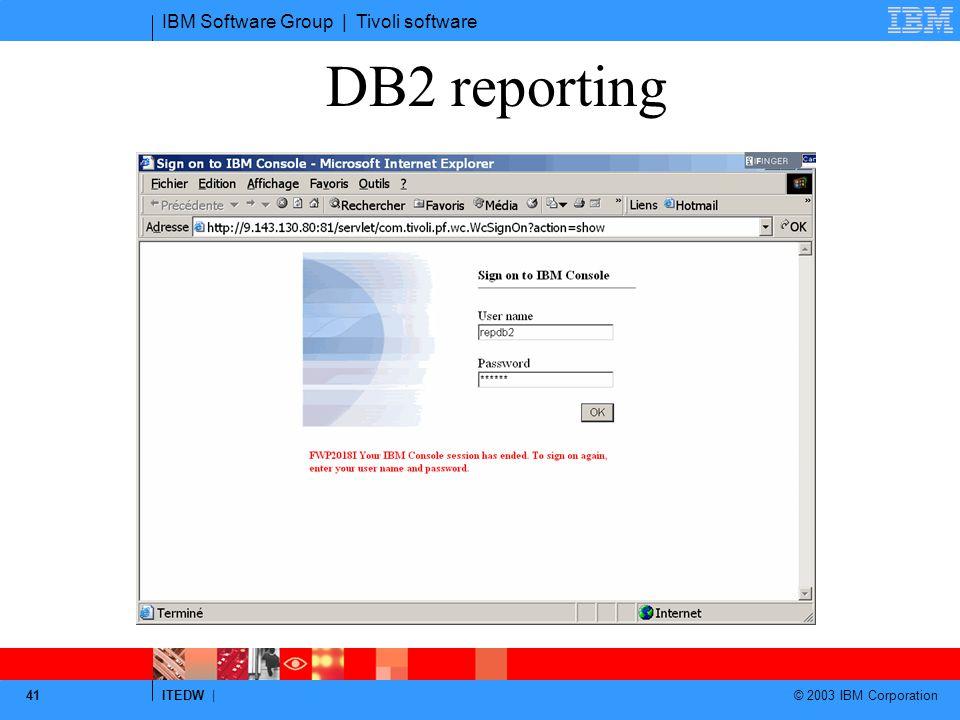 DB2 reporting