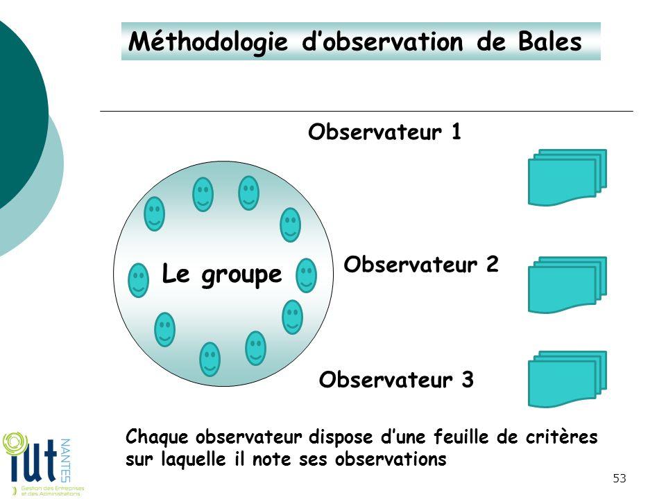Méthodologie d'observation de Bales