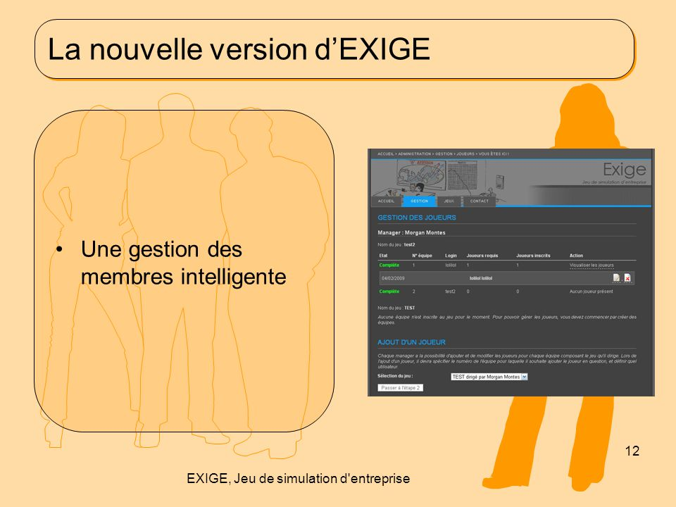 La nouvelle version d'EXIGE