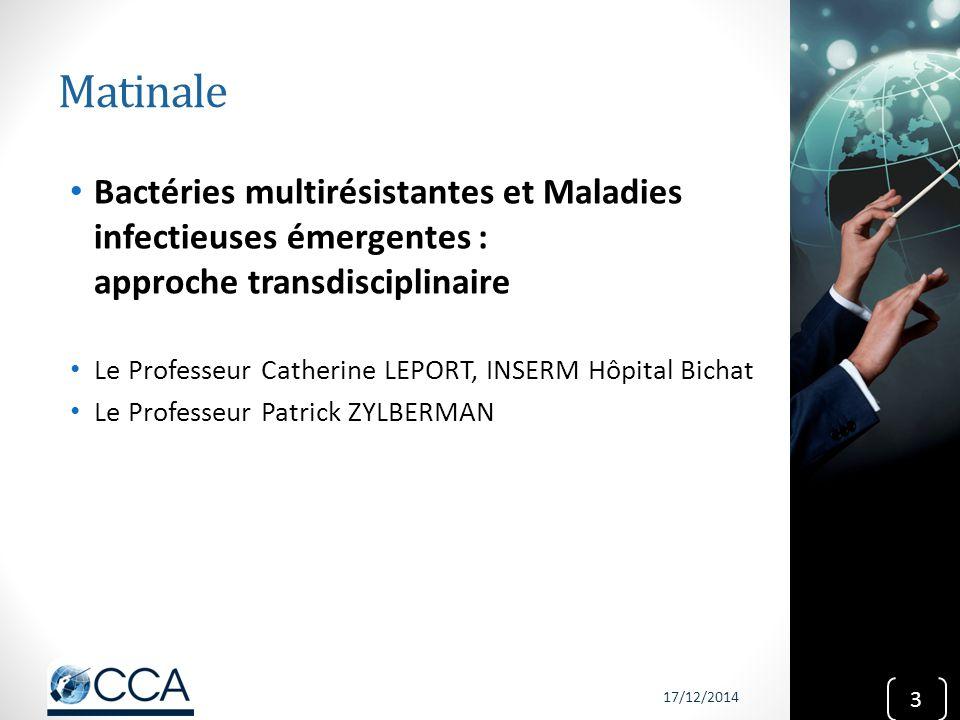 Matinale Bactéries multirésistantes et Maladies infectieuses émergentes : approche transdisciplinaire.