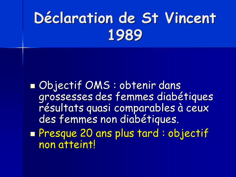 Déclaration de St Vincent 1989