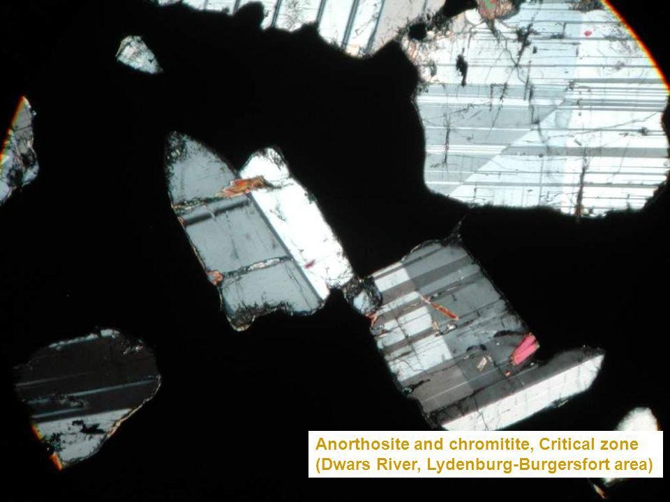 Anorthosite and chromitite, Critical zone
