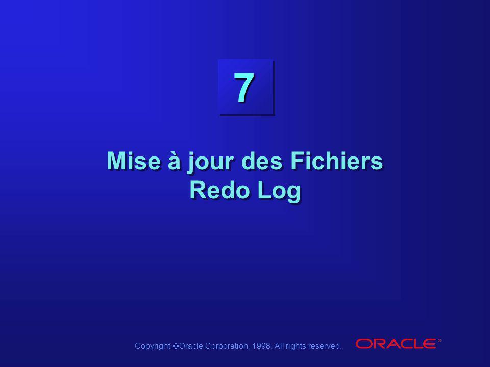 Mise à jour des Fichiers Redo Log