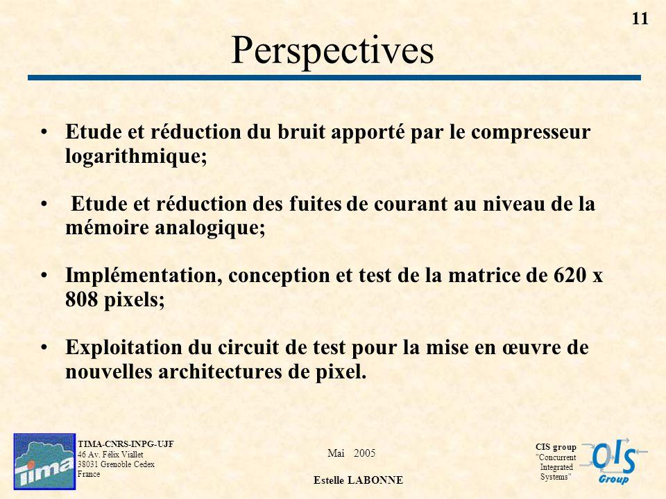 Perspectives Etude et réduction du bruit apporté par le compresseur logarithmique;