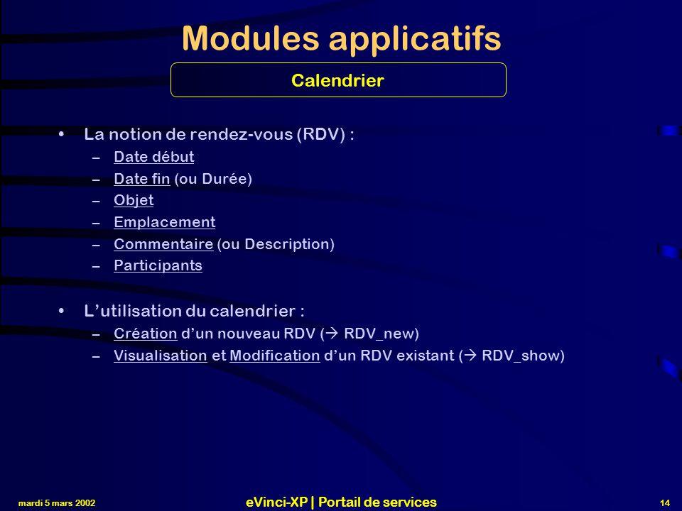 eVinci-XP | Portail de services