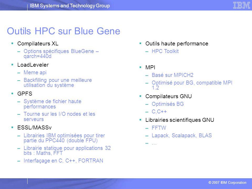 Outils HPC sur Blue Gene