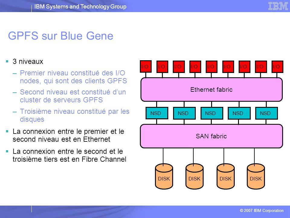 GPFS sur Blue Gene 3 niveaux
