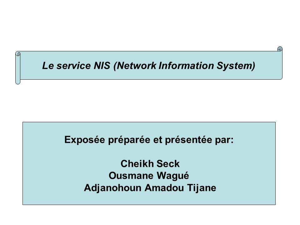 Présentattion Le service NIS (Network Information System)