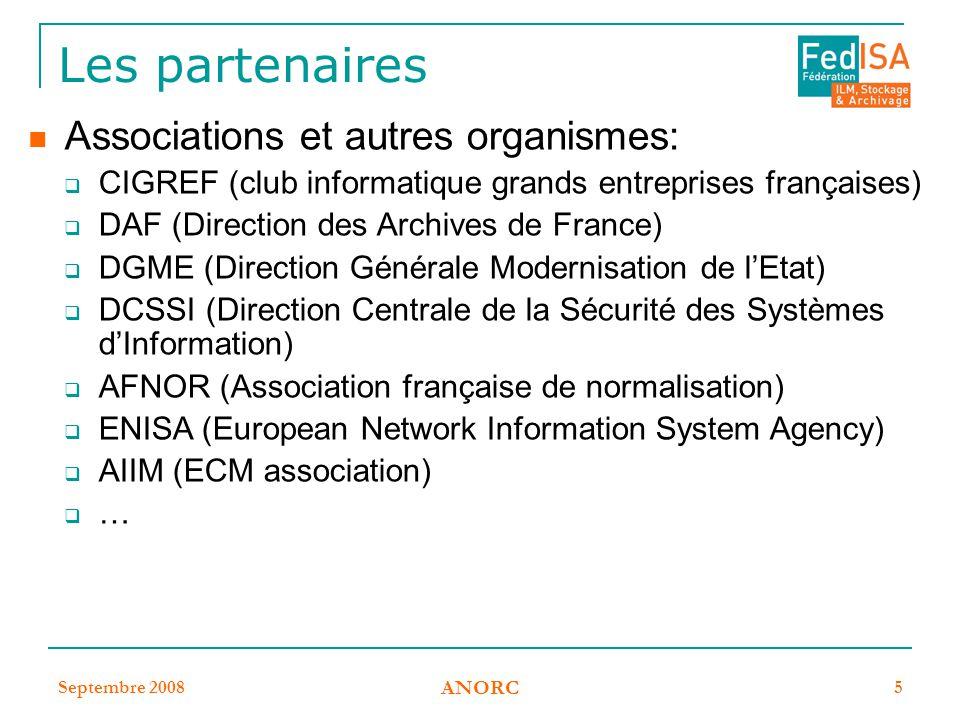 Les partenaires Associations et autres organismes: