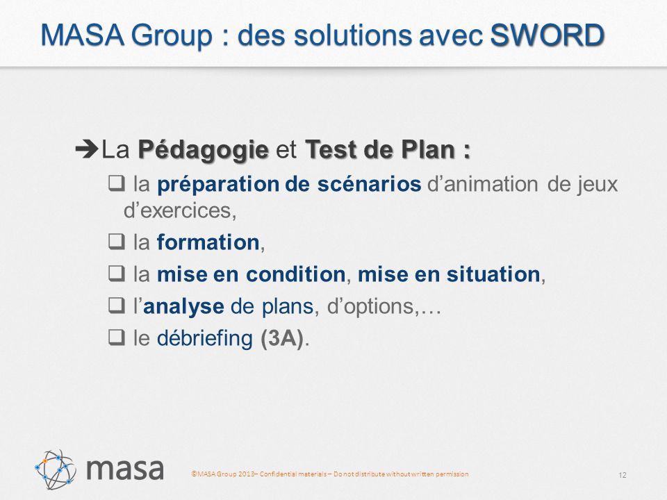 MASA Group : des solutions avec SWORD