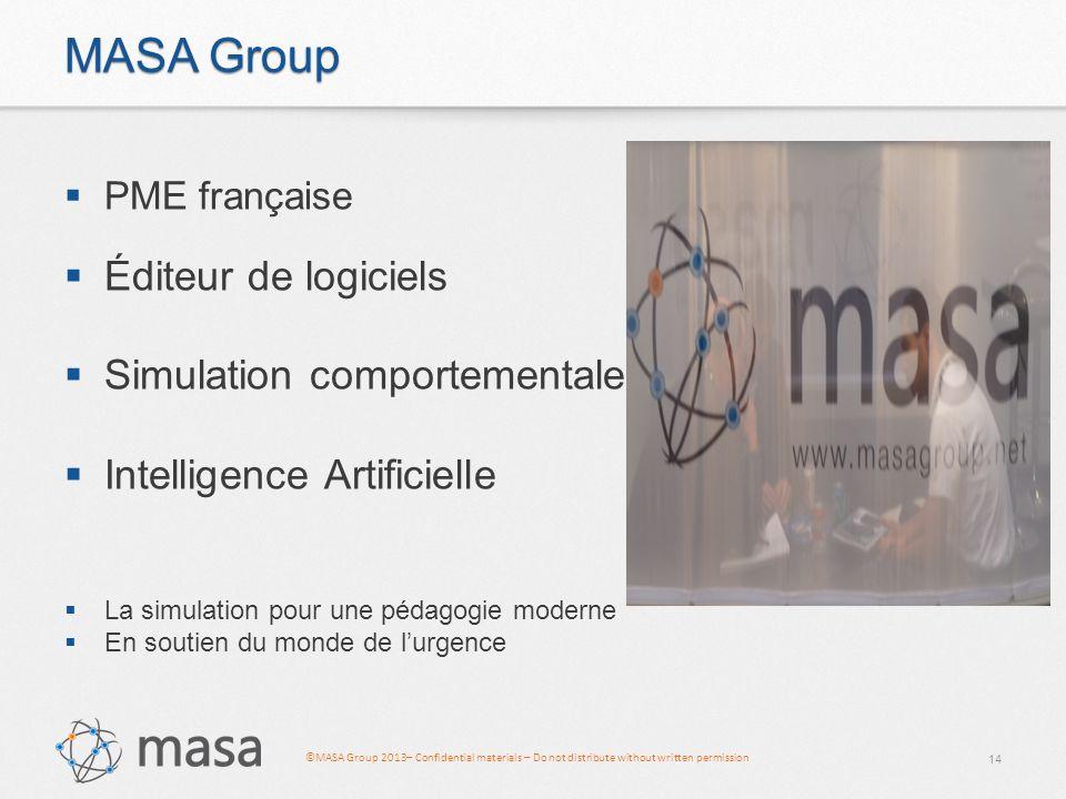 MASA Group Éditeur de logiciels Simulation comportementale