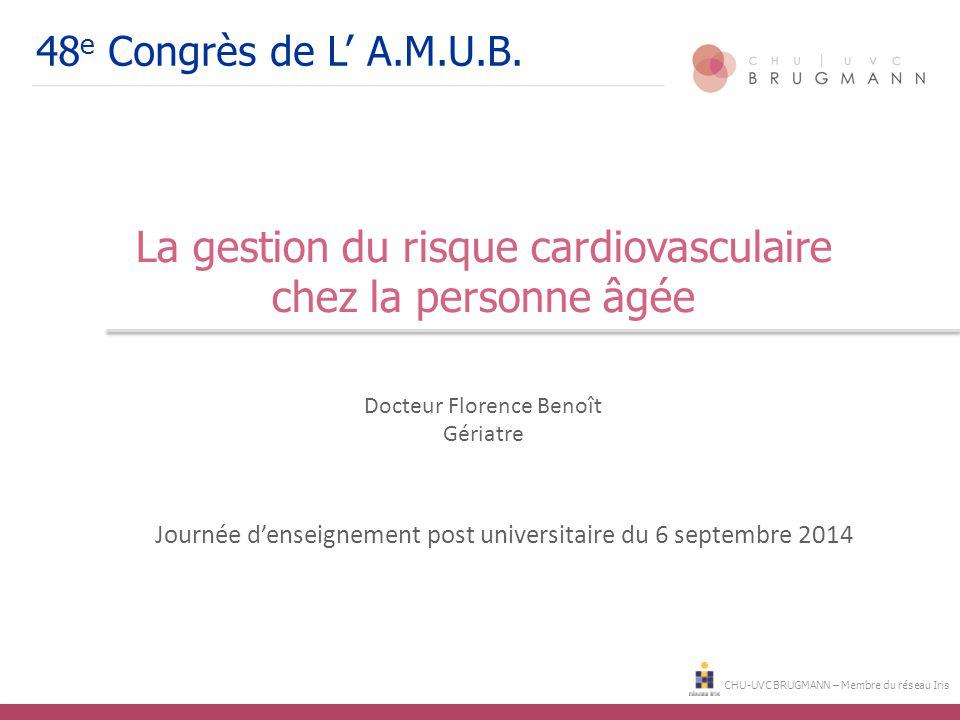 La gestion du risque cardiovasculaire chez la personne âgée