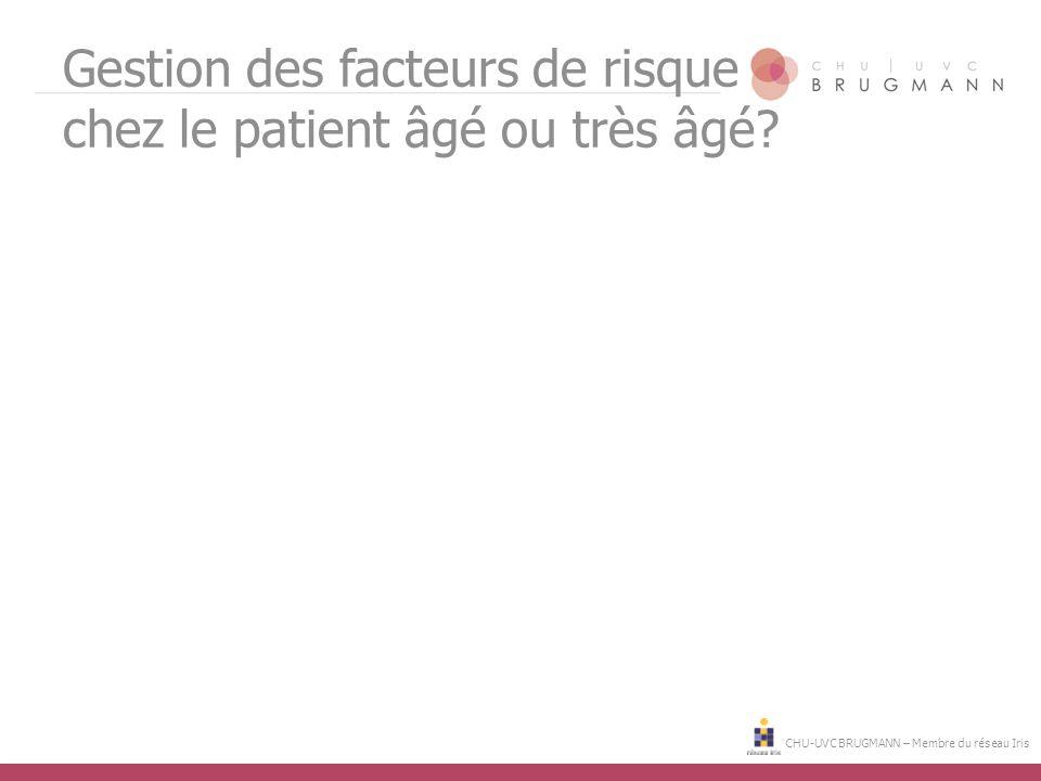 Gestion des facteurs de risque chez le patient âgé ou très âgé