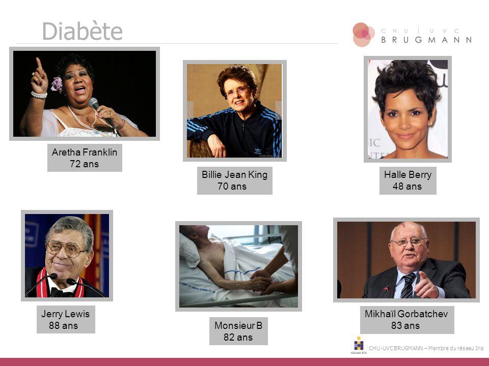 Diabète Aretha Franklin 72 ans Billie Jean King 70 ans Halle Berry