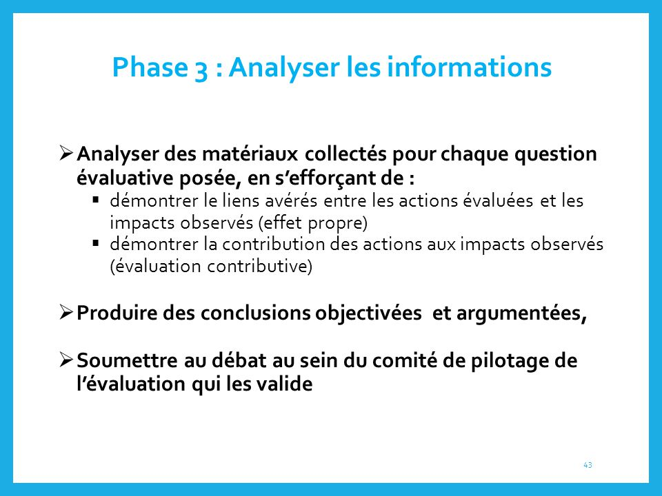 Phase 3 : Analyser les informations