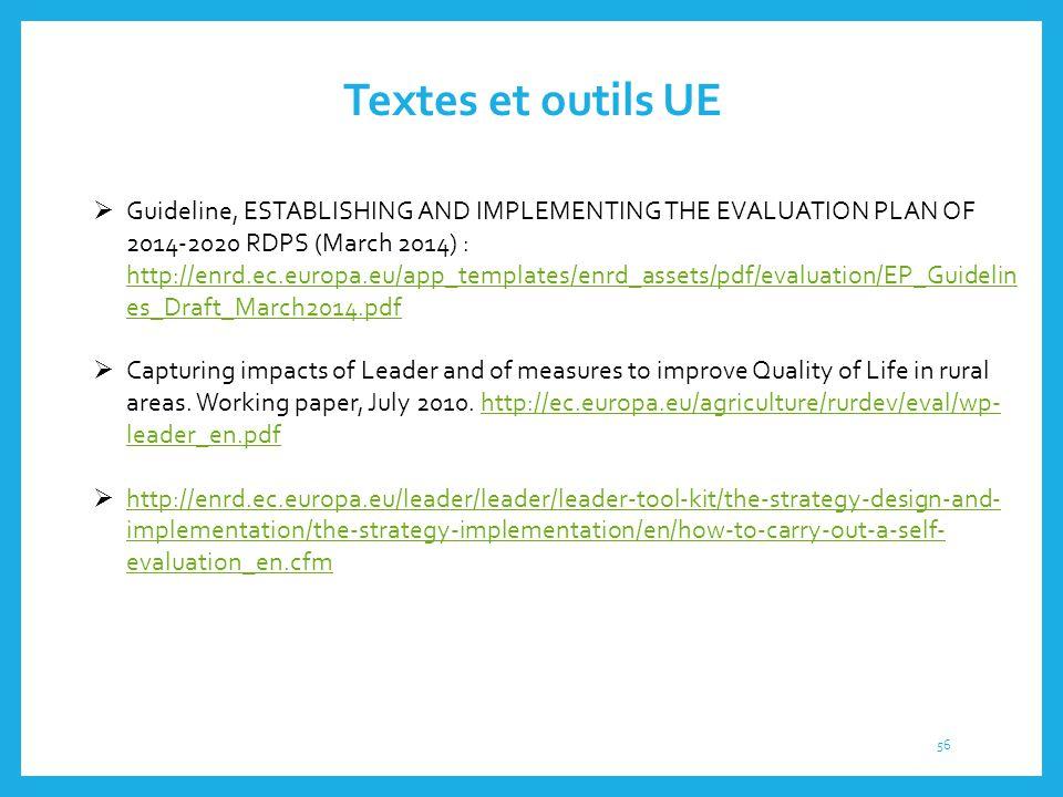 Textes et outils UE