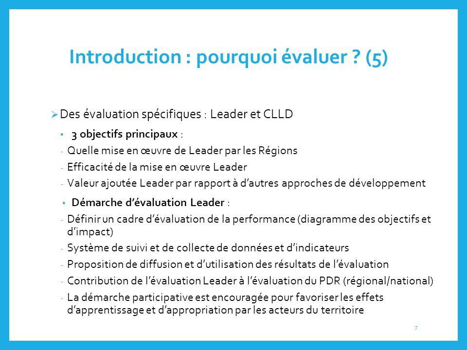Introduction : pourquoi évaluer (5)