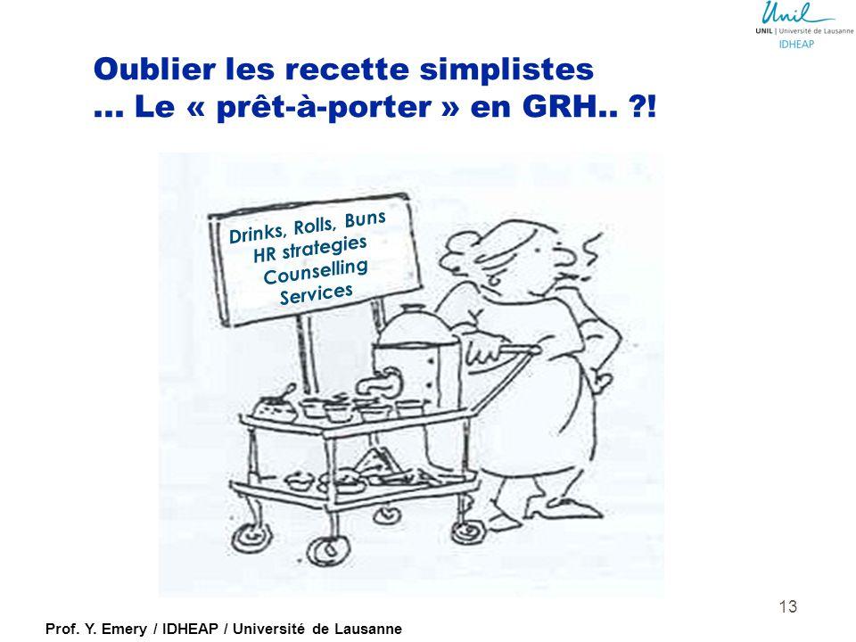 Oublier les recette simplistes ... Le « prêt-à-porter » en GRH.. !