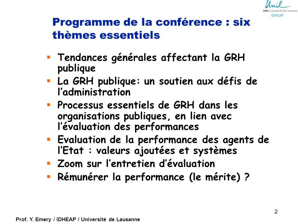 Programme de la conférence : six thèmes essentiels