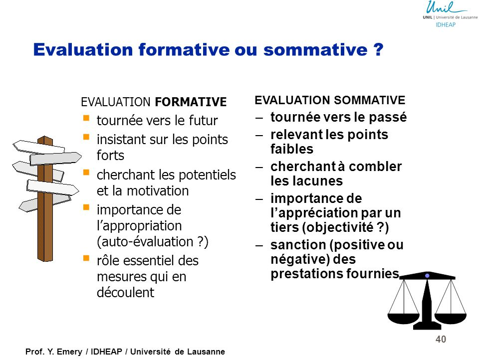 Evaluation formative ou sommative