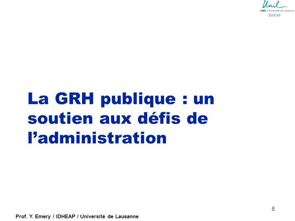 La GRH publique : un soutien aux défis de l'administration