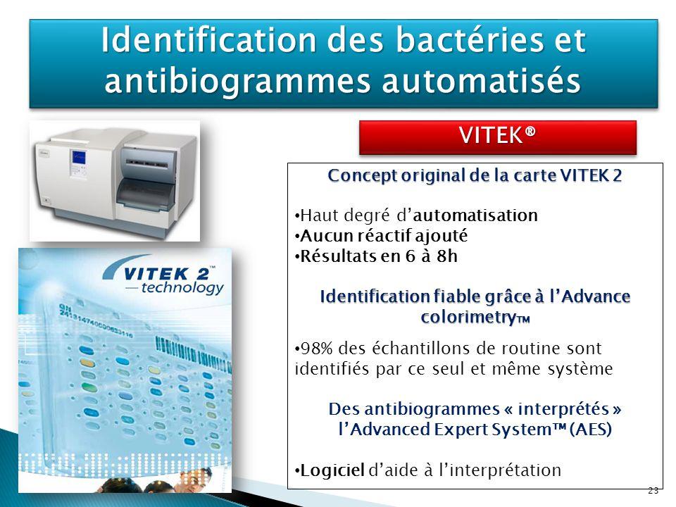Identification des bactéries et antibiogrammes automatisés