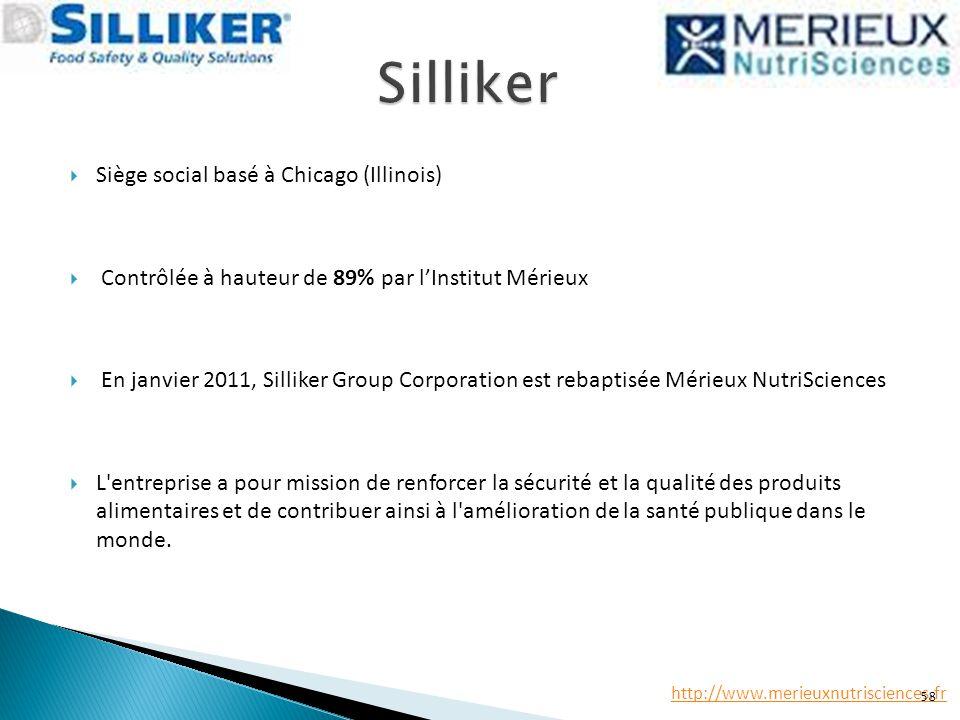 Silliker Siège social basé à Chicago (Illinois)