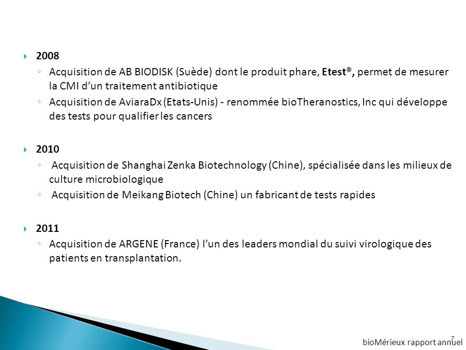 Acquisition de Meikang Biotech (Chine) un fabricant de tests rapides