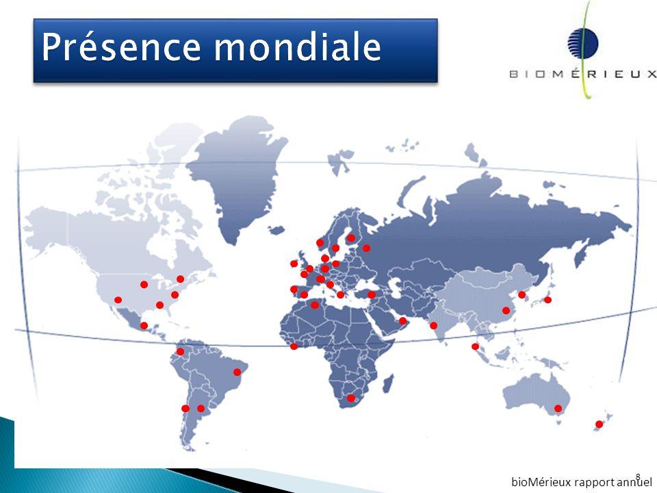 Présence mondiale bioMérieux rapport annuel