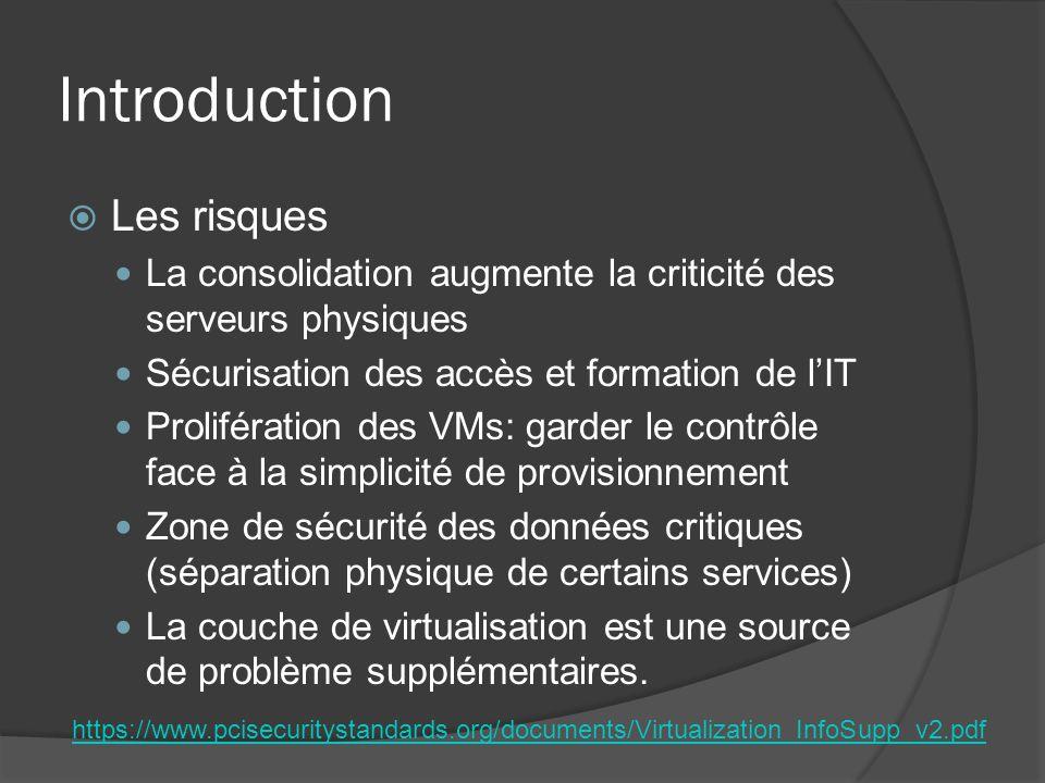 Introduction Les risques