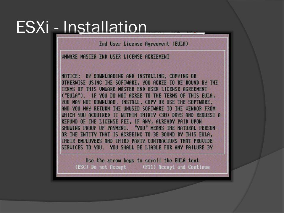 ESXi - Installation