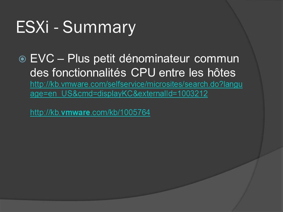 ESXi - Summary
