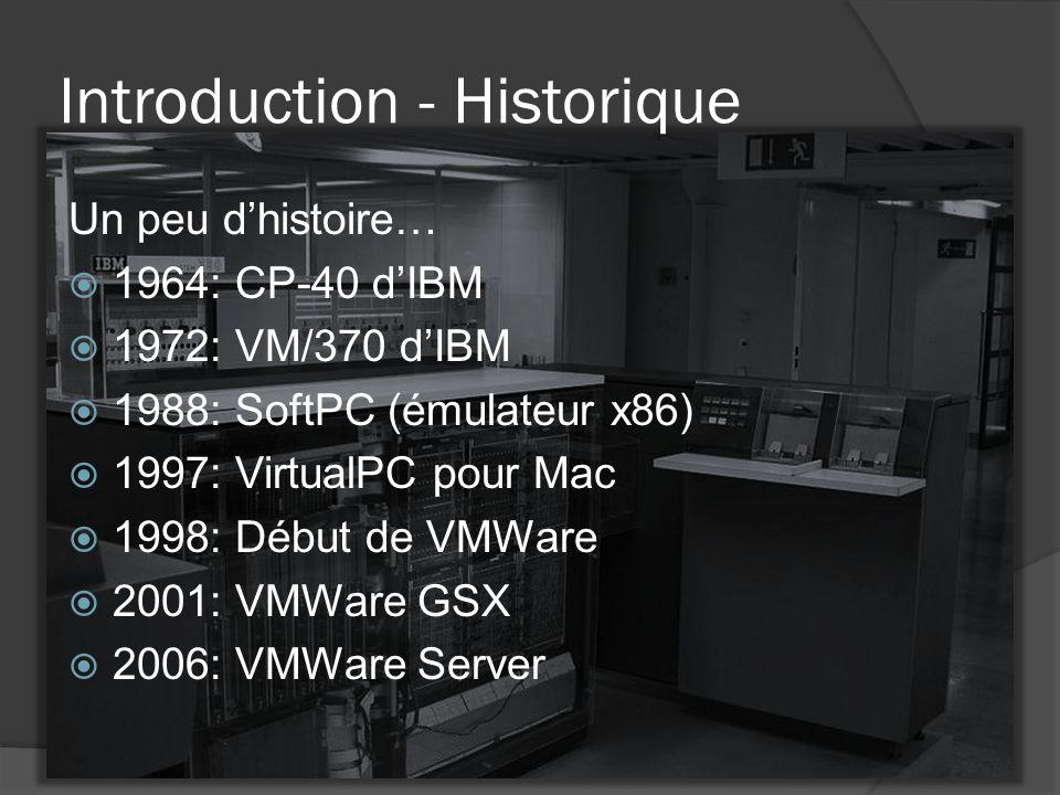 Introduction - Historique