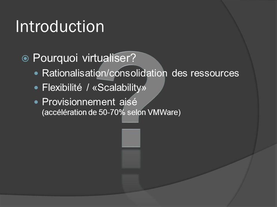 Introduction Pourquoi virtualiser