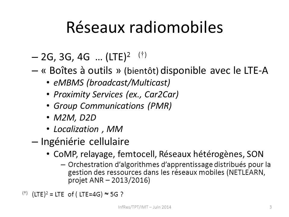 Réseaux radiomobiles 2G, 3G, 4G … (LTE)2 (†)