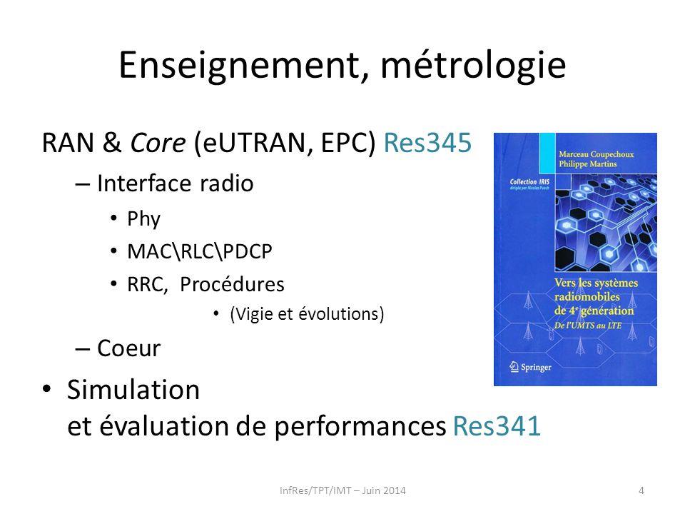 Enseignement, métrologie