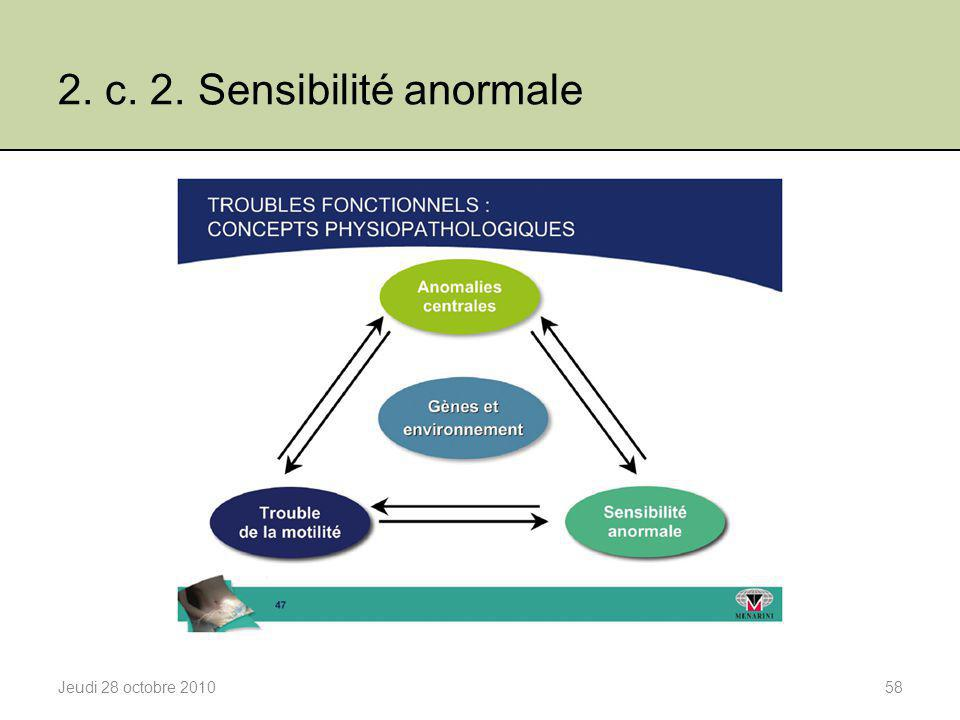 2. c. 2. Sensibilité anormale