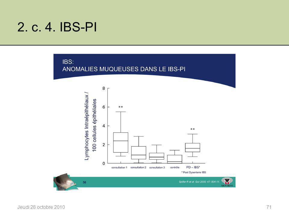 2. c. 4. IBS-PI Etat inflammatoire local après l'inflammation aigue