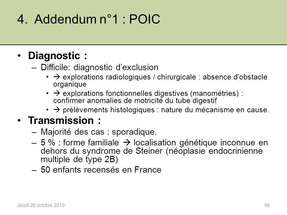 4. Addendum n°1 : POIC Diagnostic : Transmission :