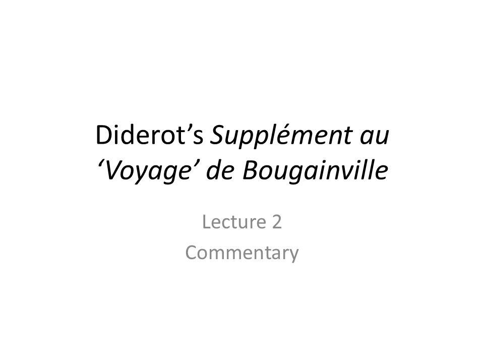 Diderot's Supplément au 'Voyage' de Bougainville