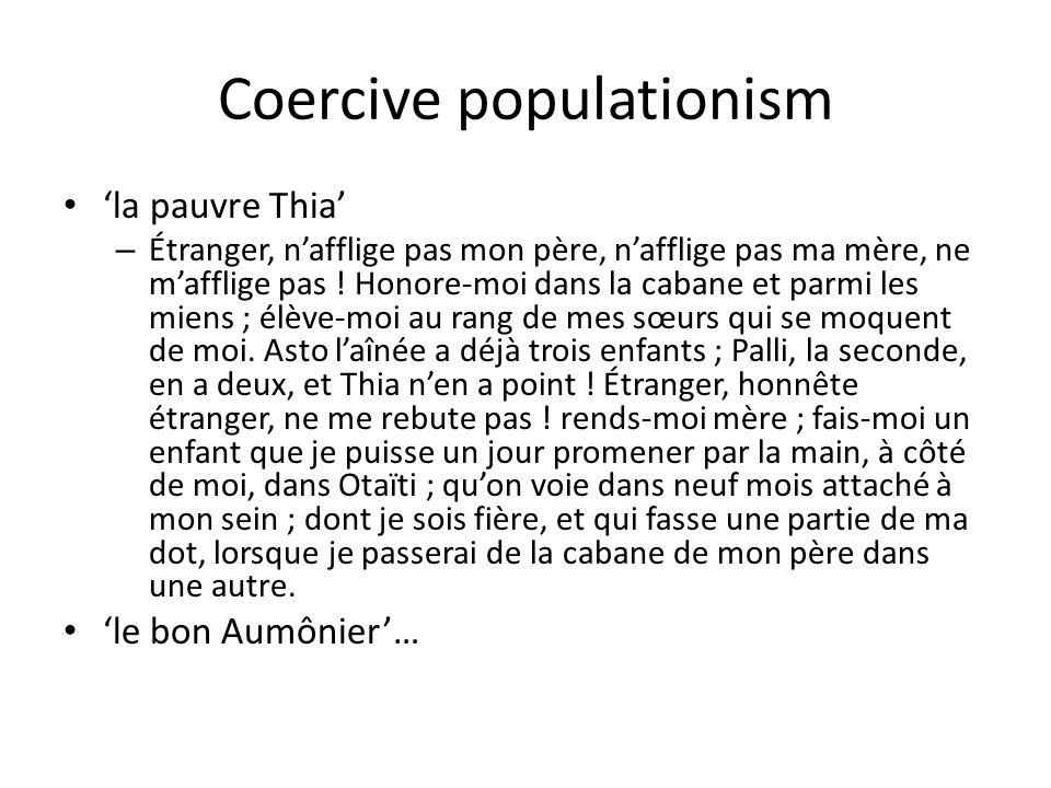 Coercive populationism