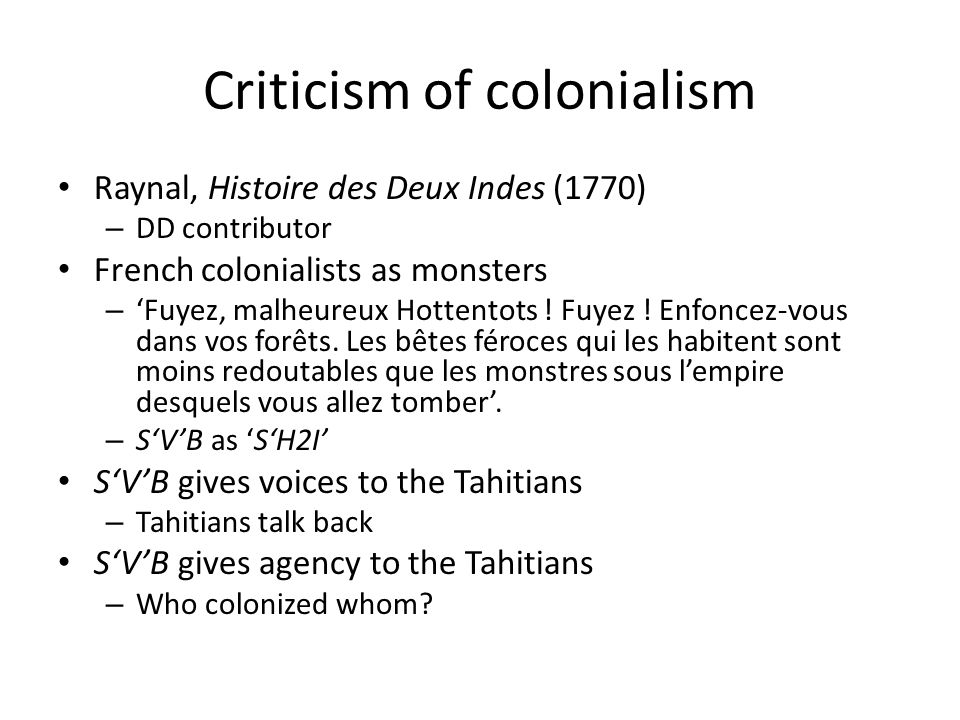 Criticism of colonialism