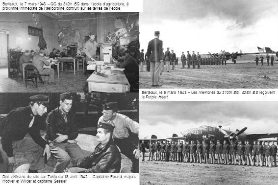 Berteaux, le 7 mars 1943 – QG du 310th BG dans l'école d'agriculture, à proximité immédiate de l'aérodrome contruit sur les terres de l'école