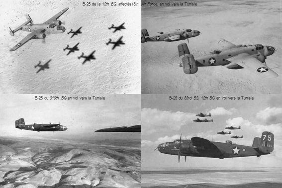 B-25 de la 12th BG, affectés15th Air Force, en vol vers la Tunisie