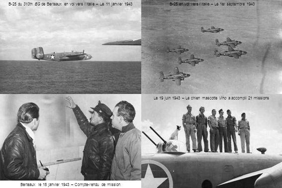 B-25 du 310th BG de Berteaux en vol vers l'Italie – Le 11 janvier 1943