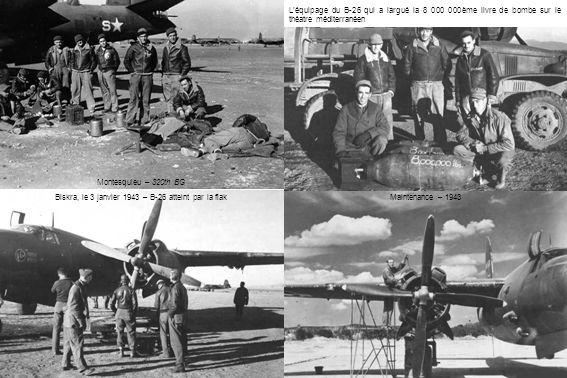 Biskra, le 3 janvier 1943 – B-26 atteint par la flak